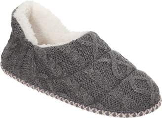 Dearfoams Quilted Cable Knit Booties