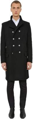 Balmain Wool & Cashmere Blend Coat