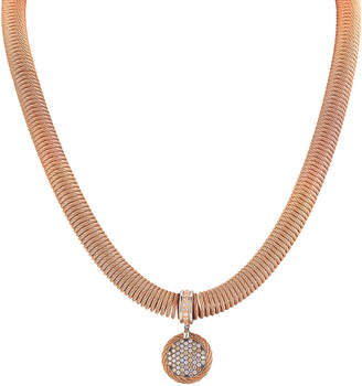 Alor Classique 18K Two-Tone & Stainless Steel 0.27 Ct. Tw. Champagne & White Diamond Cable Disc Necklace