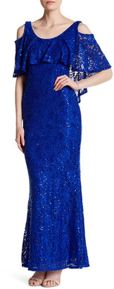 Marina Popover Lace Gown $189 thestylecure.com