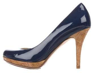 KORS Patent Round-Toe Pumps
