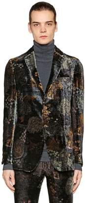 Etro Printed Viscose & Silk Velvet Jacket