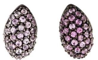 MCL by Matthew Campbell Laurenza Enamel & Sapphire Earrings