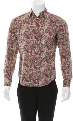 Vince Paisley Print Button-Up Shirt w/ Tags