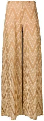 M Missoni chevron pattern wide trousers