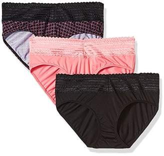 Warner's Women's Body Heaven Micro Lace Hipster 3-Pack