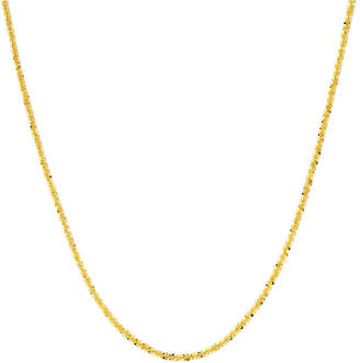 PRIVATE BRAND FINE JEWELRY Made in Italy 18K Gold Over Sterling Silver 20 Criss-Cross Chain