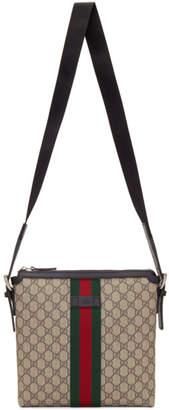 Gucci Biege GG Supreme Messenger Bag