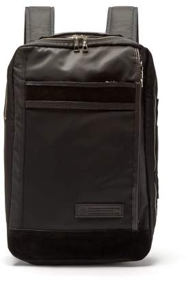 MASTERPIECE Master Piece Density Suede And Leather Trimmed Backpack - Mens - Black