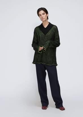 MM6 MAISON MARGIELA Oversized V-Neck Sweater