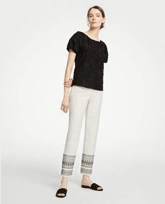 Ann Taylor The Ankle Pant In Embroidery