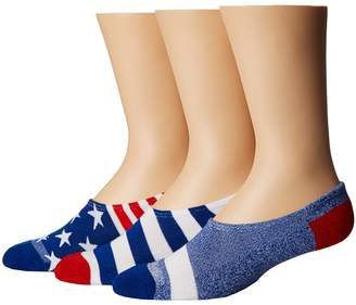 Converse Chucks Bars and Stars 3-Pair Pack Men's No Show Socks Shoes