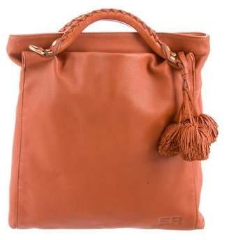 Sonia Rykiel Pom-Pom Accented Leather Tote