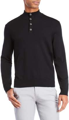 Thomas Dean Mock Neck Wool Sweater