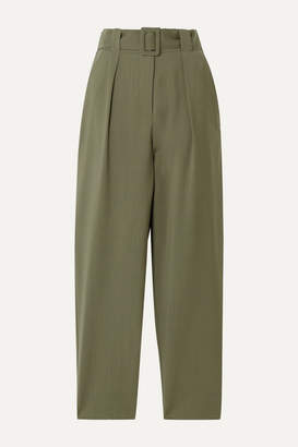Envelope1976 - Pfeiffer Belted Wool Tapered Pants - Army green