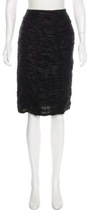 Burberry Ruched Knee-Length Skirt
