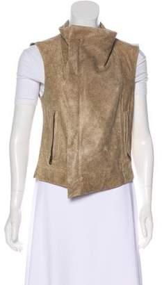 Veda Distressed Leather Vest