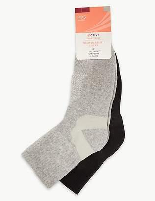 Marks and Spencer 2 Pair Pack Blister Resist Ankle Socks