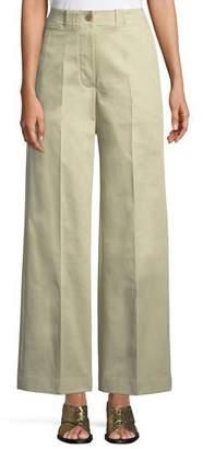 Burberry Eastcote High-Waist Wide-Leg Trousers