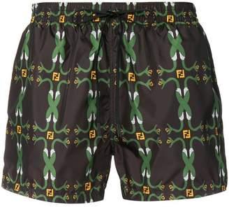 Fendi snake logo swim shorts