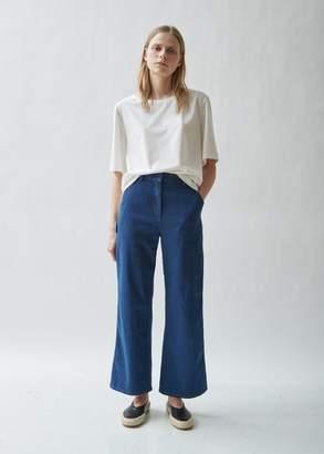 La Garçonne Moderne Washed Denim Wide Leg Jean