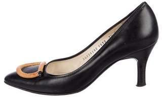 Salvatore Ferragamo Leather Semi Pointed-Toe Pumps