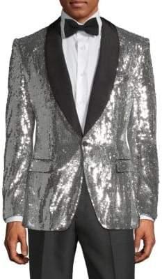 Dolce & Gabbana Metallic Sequin Sportcoat