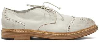 Marsèll Gru Distressed Leather Brogues - Mens - White