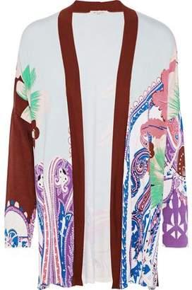 Etro Printed Silk-blend Jersey Cardigan