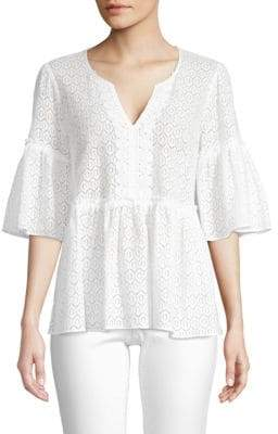 Lilly Pulitzer Inez Eyelet Top