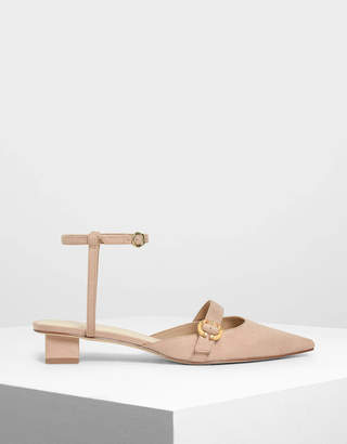 Charles & Keith Ankle Strap Mary Jane Sandals