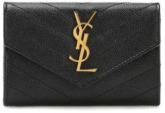 Saint Laurent Small Flap Monogram leather wallet