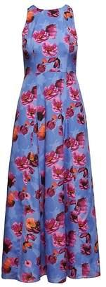 Banana Republic Floral Contrast Stitch Maxi Dress