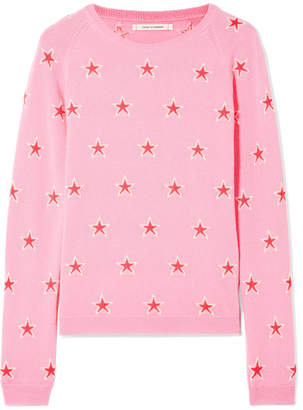 Chinti and Parker Acid Star Cashmere Sweater - Pink