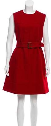Paule Ka Sleeveless Knee-Length Belted Dress w/ Tags