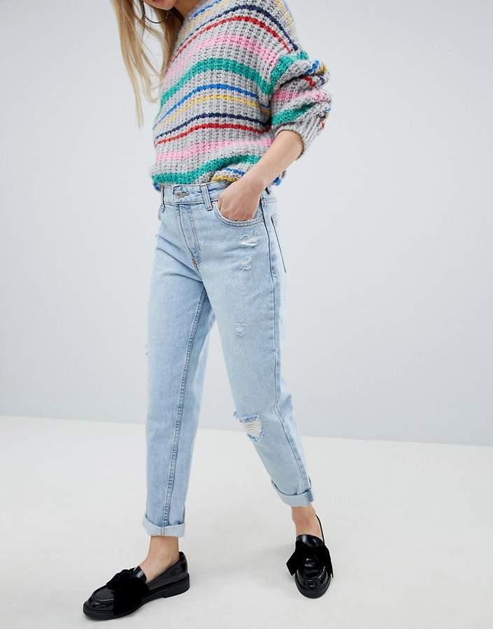 – Mom-Jeans mit hohem Bund
