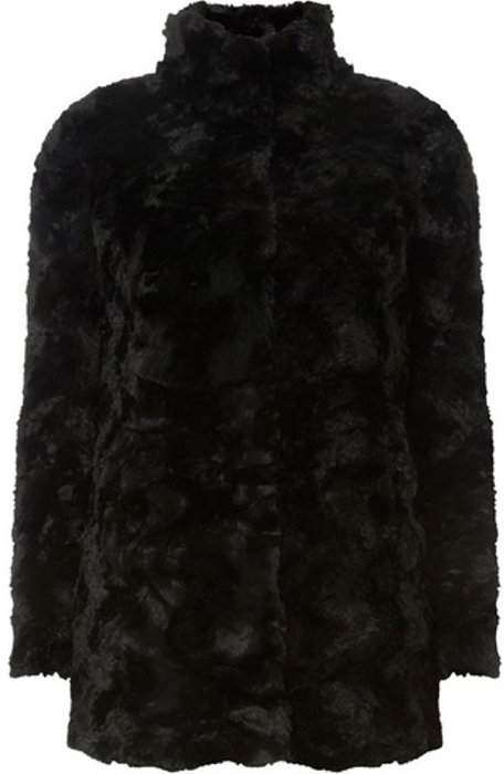 Womens **Vero Moda Black Faux Fur Coat