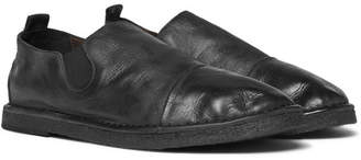 Marsèll Cap-Toe Washed-Leather Loafers