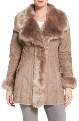 Women's Via Spiga Faux Shearling Coat $330 thestylecure.com