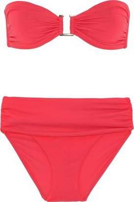 Melissa Odabash Embellished Ruched Bandeau Bikini