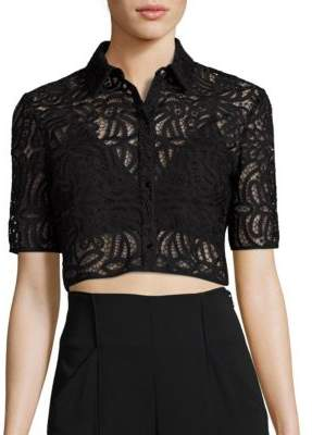 A.L.C. Zoe Lace Cropped Top