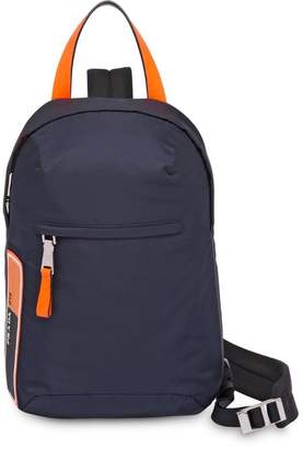 Prada nylon one shoulder backpack
