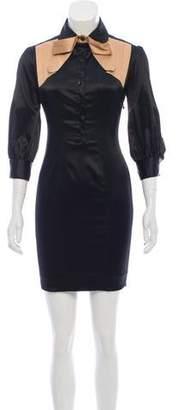 Just Cavalli Mini Button-Up Dress