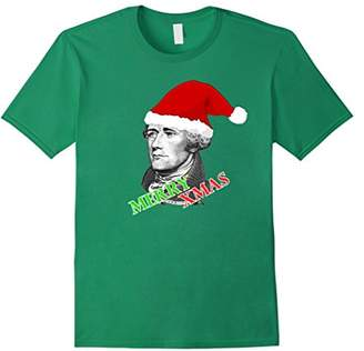 Alexander Hamilton Merry Xmas Santa Hat T-Shirt