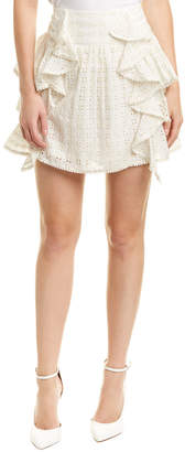 Love Sam Eyelet Mini Skirt