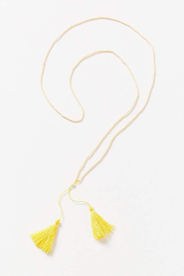 Urban Outfitters Delicate Beaded Tassel Necklace