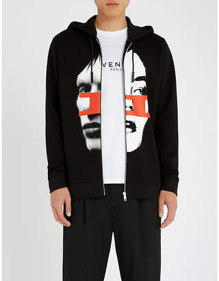 Givenchy Gemini printed cotton-jersey hoody