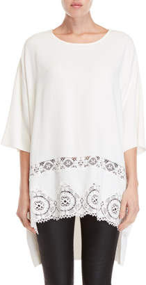 Faith Connexion Crepe Lace Trim Tunic