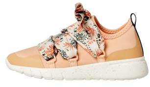 MANGO Floral laces lightweight sneakers