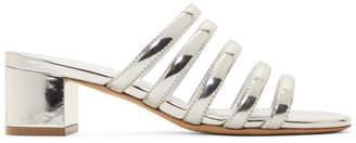Mansur Gavriel Silver Multi Strap Sandals